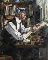 Портрет гравера Уильяма Уотта. 1924