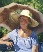 Сергей АНДРИЯКА. Портрет с зонтиком. 1996