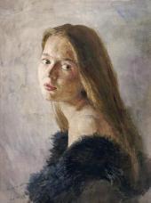 Сергей АНДРИЯКА. Портрет Наташи. 1988