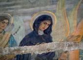 АПСИДА КОМПОЗИЦИИ НА ЮЖНОЙ СТЕНЕ «ХРИСТОС ВО СЛАВЕ С ПРЕДСТОЯЩИМИ АЛЕКСАНДРОМ НЕ