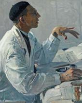 ПОРТРЕТ С.С. ЮДИНА. 1935. Фрагмент.