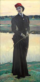 ПОРТРЕТ ДОЧЕРИ ХУДОЖНИКА О.М. НЕСТЕРОВОЙ (≪АМАЗОНКА≫) 1906