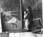 МОДЕЛЬ В МАСТЕРСКОЙ МУНКА В БЕРЛИНЕ. 1902