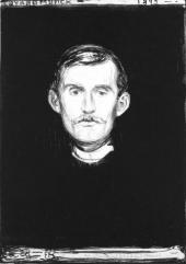 АВТОПОРТРЕТ С РУКОЙ СКЕЛЕТА. 1895