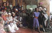 УИЛЬЯМ ХОЛМАН ХАНТ. РОДИТЕЛИ НАХОДЯТ ЮНОГО ИИСУСА В ХРАМЕ. 1854–1860