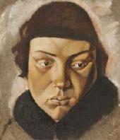 ЕЛЕНА КОНСТАНТИНОВНА ЭВЕНБАХ. 1889–1981. ЖЕНСКАЯ ГОЛОВА. 1919