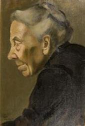 ЕЛЕНА КОНСТАНТИНОВНА ЭВЕНБАХ. 1889–1981. ПОРТРЕТ СТАРУХИ. 1919