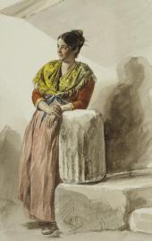 ИТАЛЬЯНКА В ЖЕЛТОЙ ШАЛИ. 1832. ИЗ «ИТАЛЬЯНСКОГО АЛЬБОМА»