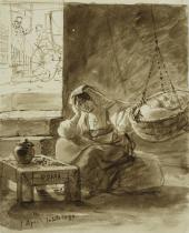 ИТАЛЬЯНКА У КОЛЫБЕЛИ. 1832 (?). ИЗ «ИТАЛЬЯНСКОГО АЛЬБОМА»