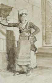 ИТАЛЬЯНКА ИЗ САНИНО. КОНЕЦ 1820-Х. ИЗ «ИТАЛЬЯНСКОГО АЛЬБОМА»