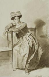 ИТАЛЬЯНКА ИЗ НЕТТУНО. КОНЕЦ 1820-Х. ИЗ «ИТАЛЬЯНСКОГО АЛЬБОМА»