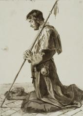 МОЛЯЩИЙСЯ ПИЛИГРИМ. КОНЕЦ 1820-Х. ИЗ «ИТАЛЬЯНСКОГО АЛЬБОМА»