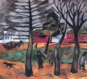 Н.С.ГОНЧАРОВА. Осень. Около 1910