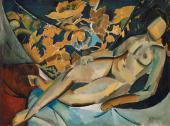 В.Е.ТАТЛИН. Лежащая натурщица. 1912