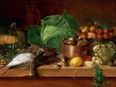 И.Ф. ХРУЦКИЙ. Битая дичь, овощи и грибы. 1854