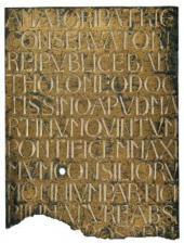 МАСТЕРСКАЯ МИКЕЛОЦЦО. ТАБЛИЧКА С НАДПИСЬЮ С ГРОБНИЦЫ БАРТОЛОМЕО АРАГАЦЦИ. 1429–1