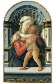 ФИЛИППО ЛИППИ (ок. 1406–1469) МАДОННА С МЛАДЕНЦЕМ. Ок. 1460