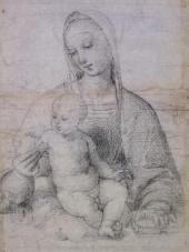 РАФАЭЛЬ САНТИ. МАДОННА С ГРАНАТОМ. Около 1504