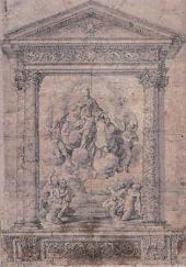 ПОЛИДОРО ДА КАРАВАДЖО. МАДОННА С ДУШАМИ КАЮЩИХСЯ. 1527–1528