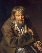 Иван КРАМСКОЙ. Мужичок с клюкой. 1872