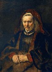 РЕМБРАНДТ ВАН РЕЙН (1606–1669). ПОРТРЕТ ПОЖИЛОЙ ЖЕНЩИНЫ. 1650-е