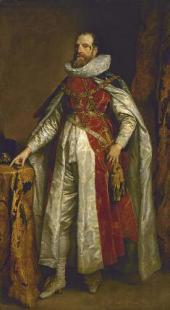 АНТОНИС ВАН ДЕЙК (1599–1641). ПОРТРЕТ ГЕНРИ ДЭНВЕРСА, ГРАФА ДЕНБИ, В КОСТЮМЕ КАВ
