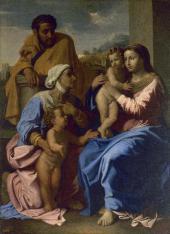 НИКОЛА ПУССЕН (1594–1665). СВЯТОЕ СЕМЕЙСТВО СО СВ. ЕЛИЗАВЕТОЙ И СВ. ИОАННОМ КРЕС