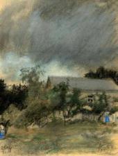 Пасмурный день в Кaрзинкино. 1918