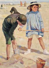 Валентин СЕРОВ. Дети на пляже. 1903