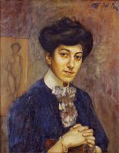 Кузьма ПЕТРОВ-ВОДКИН. Портрет жены художника. 1906