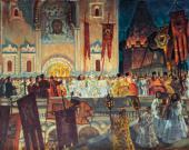 Борис КУСТОДИЕВ. Пасхальная ночь. 1917