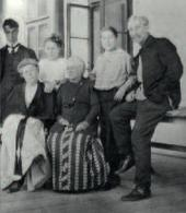 Борис, Розалия Исидоровна, Лидия, Жозефина и Леонид Осипович Пастернаки с Бертой