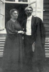 Леонид Осипович Пастернак с сестрой Анной Осиповной Фрейденберг. Меррекюль. 1910