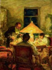 Лев Толстой в кругу семьи в Ясной Поляне. 1898–1899