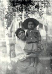 Борис Пастернак с матерью. Одесса. 1891