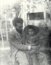 Борис Пастернак с отцом. Одесса. 1891