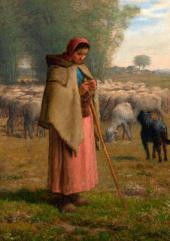 Жан-Франсуа МИЛЛЕ. Пастушка: долины Барбизона. До 1862