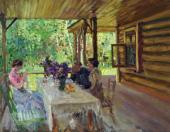 Константин КОРОВИН. На терассе. 1910