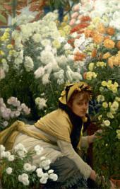 Джеймс ТИССО. Хризантемы. Около 1874–1876