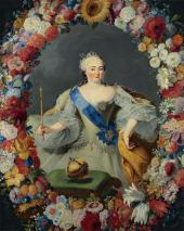 КАСПАР ГЕОРГ ФОН ПРЕННЕР. ПОРТРЕТ ИМПЕРАТРИЦЫ ЕЛИЗАВЕТЫ ПЕТРОВНЫ. 1754