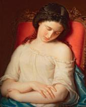 Спящая девушка. 1840-е