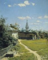 В.Д. ПОЛЕНОВ МОСКОВСКИЙ ДВОРИК. 1877 ПЕРВОНАЧАЛЬНЫЙ ВАРИАНТ.