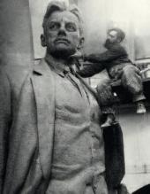 Работа над памятником В.В. Маяковскому. Москва, 1958
