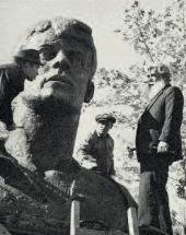 Доработка памятника Сергею Есенину в Рязани 1975.