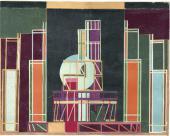 ДЕКОРАЦИЯ К ПОСТАНОВКЕ ПЬЕСЫ «МОБ» ПО РОМАНУ ЭПТОНА СИНКЛЕРА. 1923