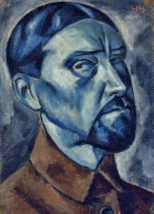 Н.М. ЧЕРНЫШЕВ. Автопортрет. 1921
