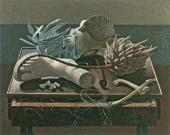 ДЖОВАННИ КОЛАСИЧЧИ. НАТЮРМОРТ С ЦВЕТКОМ ПРОТЕИ. 1937