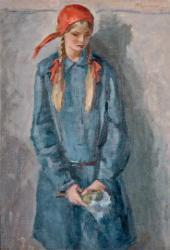 Н.М. ЧЕРНЫШЕВ. Девочка с букетом. 1928