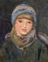 Н.М. ЧЕРНЫШЕВ. Девочка в голубой шапочке. 1928