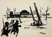 К.М. МОЛЧАНОВ. БЬЮТ ЗЕНИТКИ. ЛЕНИНГРАДСКОЕ ШОССЕ. 1941
